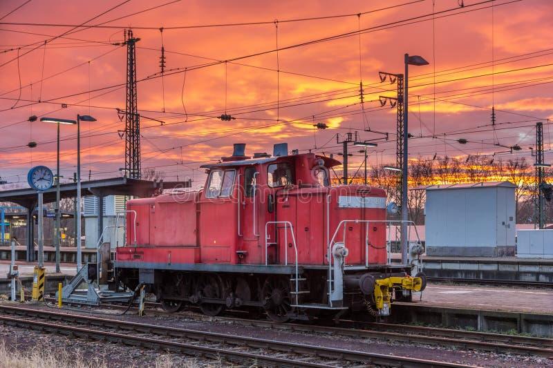 Download A Shunter At Karlsruhe Station - Germany Stock Photo - Image of bahnhof, hump: 42233138