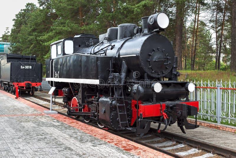 "Shunting tank locomotive 9P â""–2, 1935 issue. Novosibirsk Museum. Novosibirsk Museum of railway equipment in Novosibirsk, Siberia, Russia - July 7, 2017 stock image"