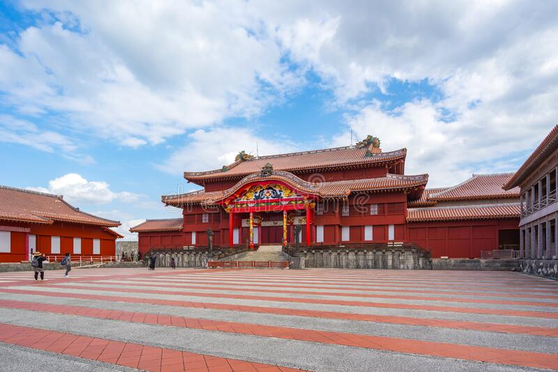 Shuri castle the famous place of Naha, Okinawa prefecture, Japan royalty free stock photography