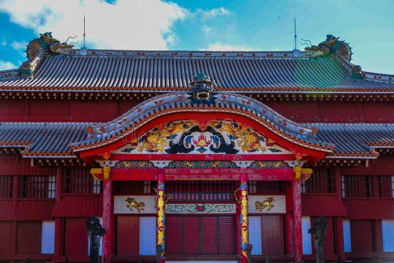 Shuri slott i Okinawa royaltyfri fotografi