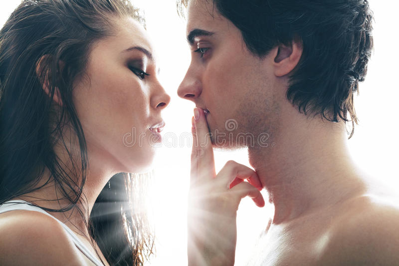 Shush, lover royalty free stock images