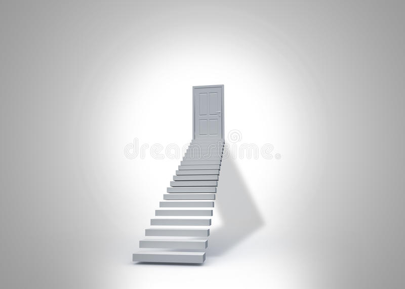 Download Shut door at top of steps stock illustration. Illustration of closed - 37368766 : shut door - pezcame.com