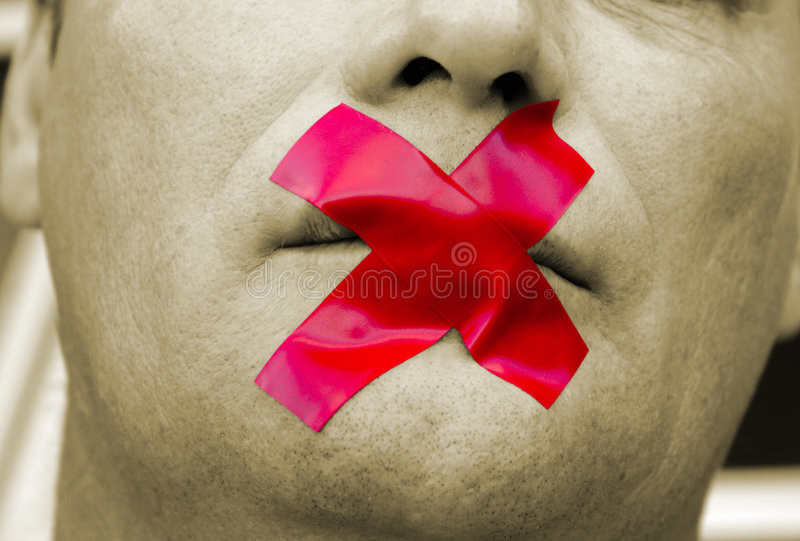 Download Shut your mouth stock image. Image of tape, prisoner, police - 2028207