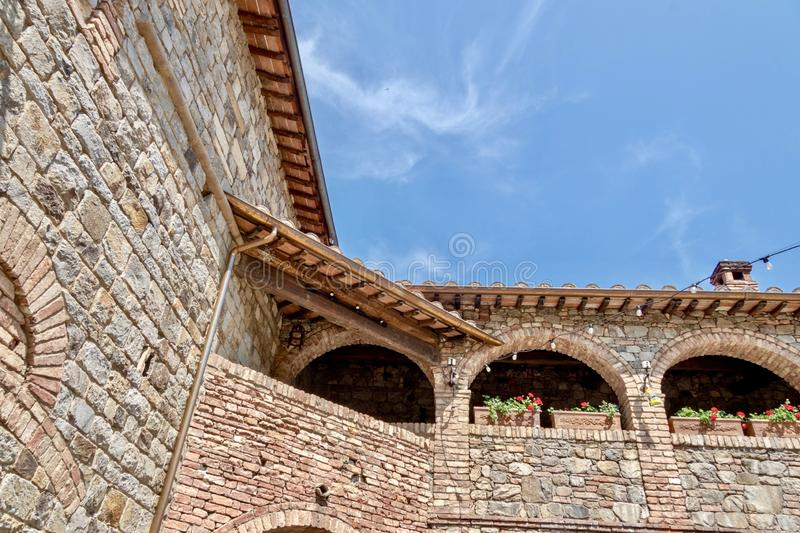 Castello Di Amorosa interior. The interior of Castello di Amorosa winery in Calistoga California.  This beautiful Tuscan inspired castle is a popular tourist stock photography