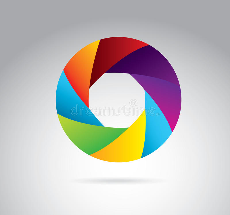 Shutter colors. Shutters colors over white background vector illustration royalty free illustration