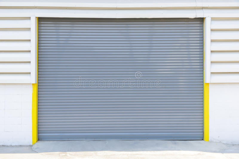 Shutter door at the factory stock photo