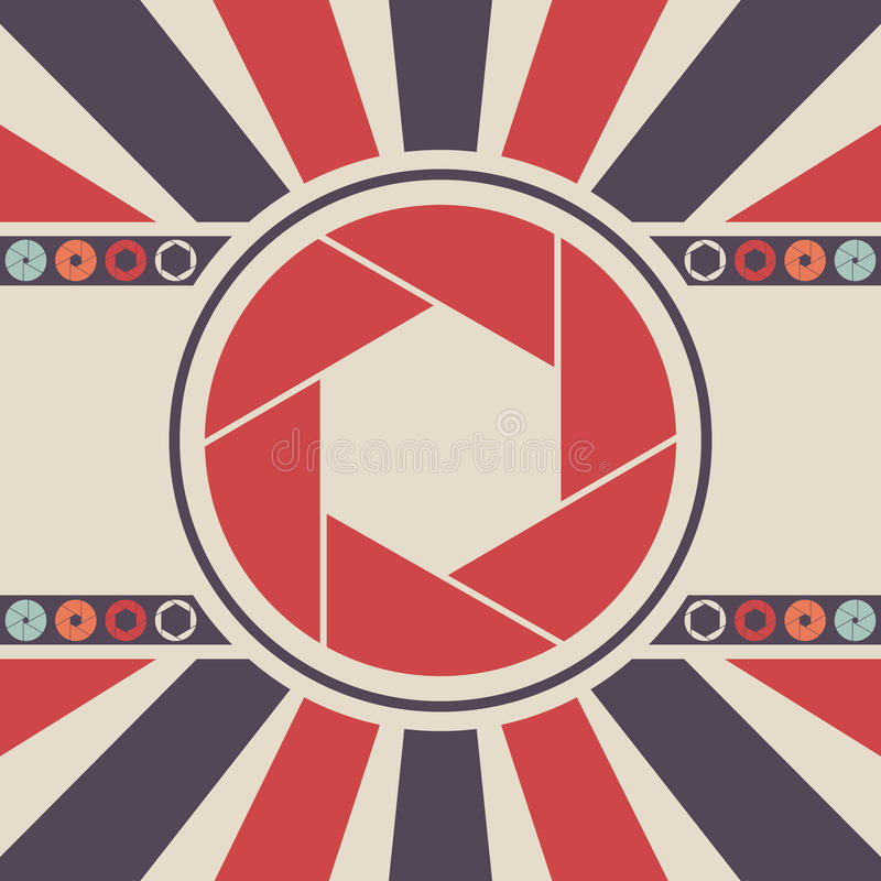 Shutter icon logo. Vector background illustration vector illustration