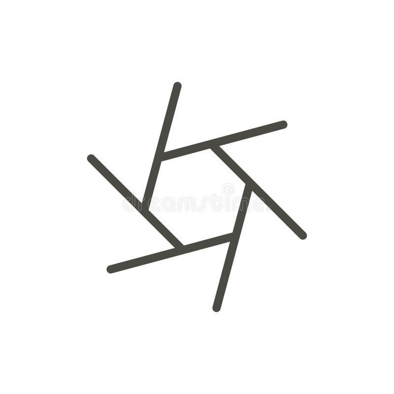 Free Shutter Icon Vector. Line Camera Focus Symbol. Royalty Free Stock Photo - 118118605