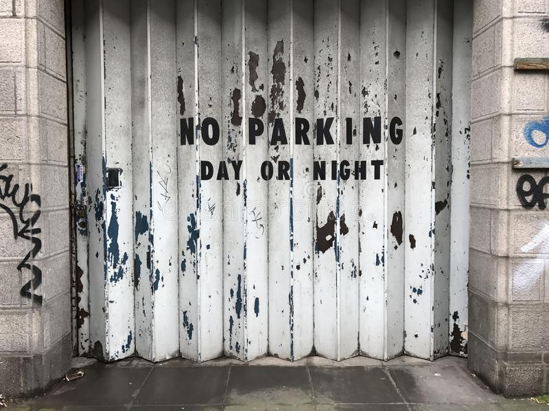 No parking day or night stock photos