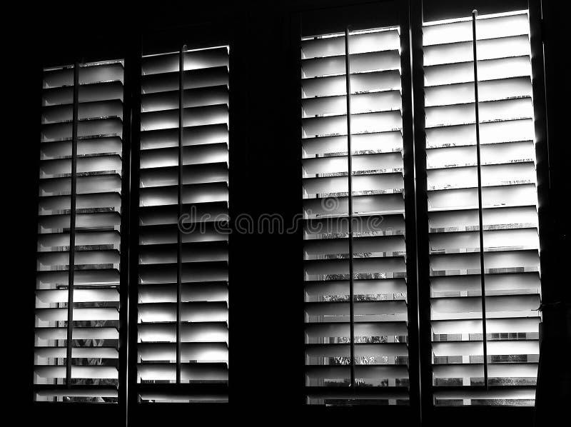 Shuttered Fenster stockbild