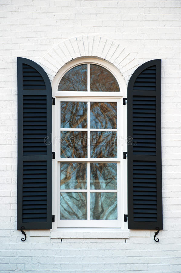 Shuttered Window royalty free stock image