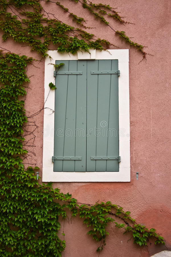 Download Shutters in Provence stock photo. Image of house, pink - 26770656