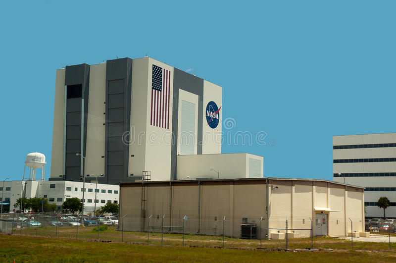 Shuttle Assembly building at Cape Canaveral Florida stock images
