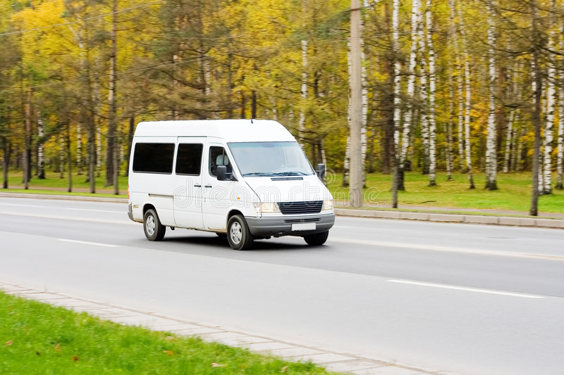 Shuttle Bus busines vehicle royalty free stock photography