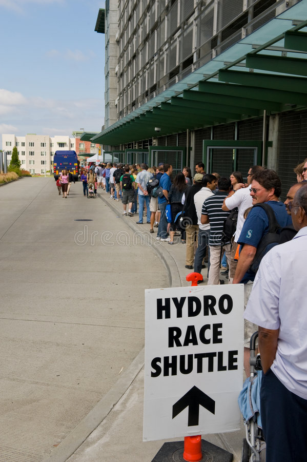 Shuttle bus line stock photography