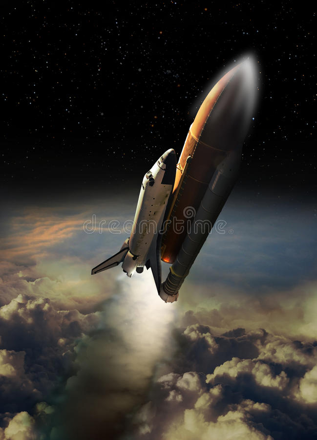 Download Shuttle launch stock illustration. Image of fuel, retro - 34984160