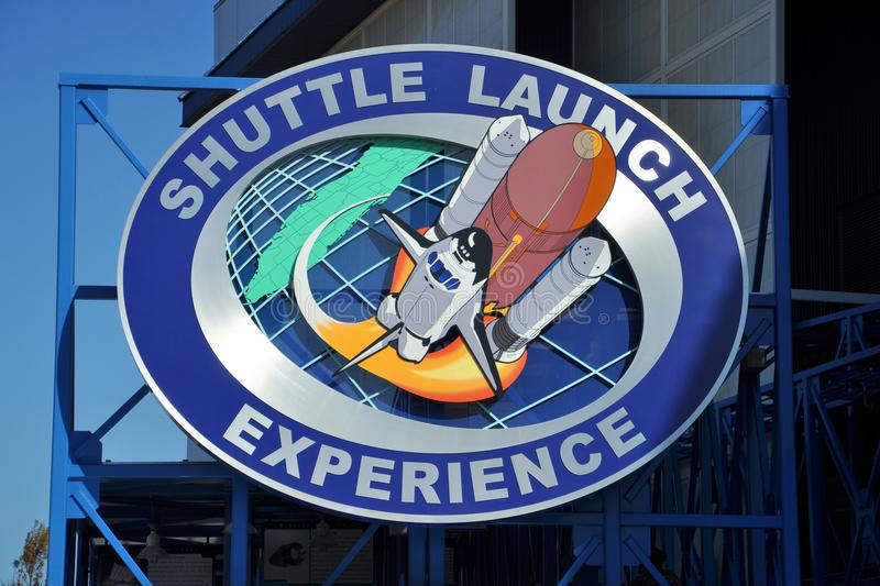 Shuttle Launch in John F. Kennedy Space Center, Florida royalty free stock images