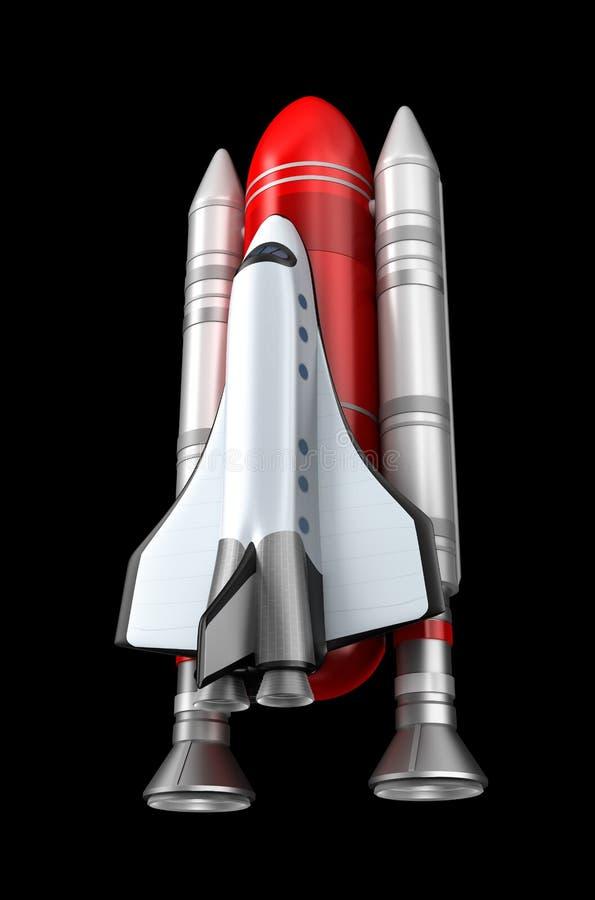Download Shuttle model. stock illustration. Image of black, science - 29167632