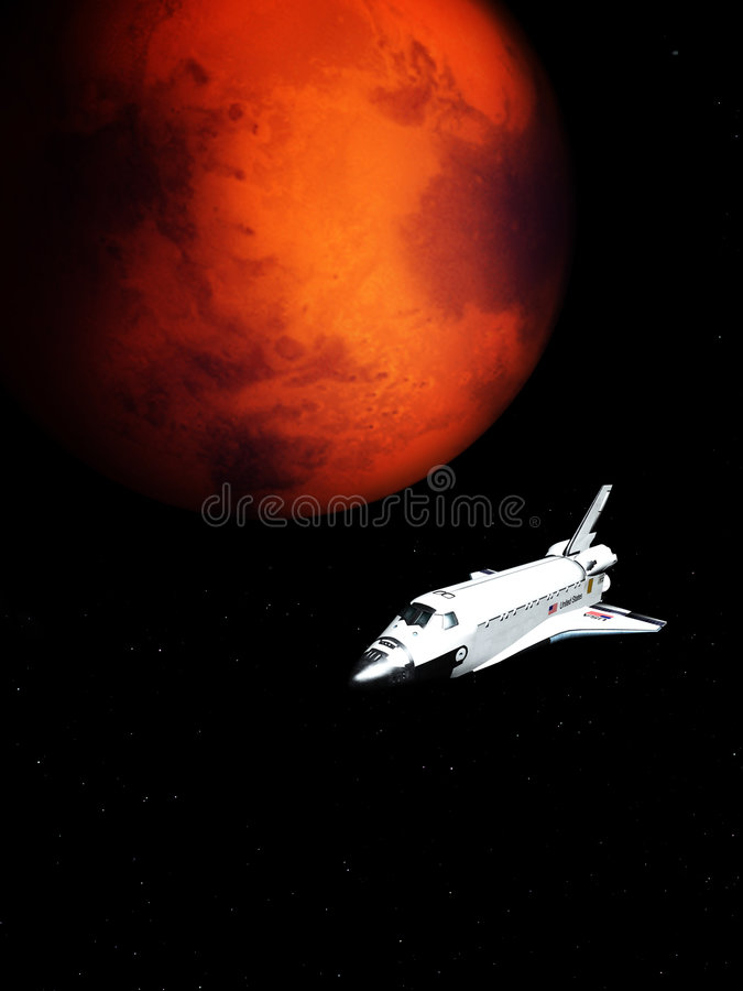 Shuttle In The Sky 165 royalty free stock photo