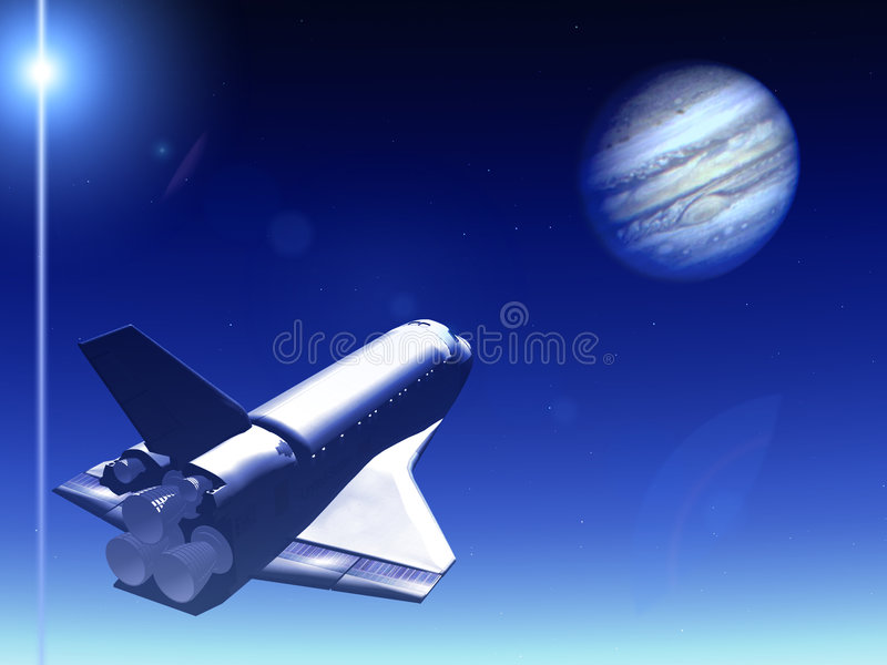Download Shuttle In The Sky 42 stock illustration. Image of illumination - 2168726