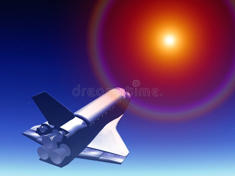 Download Shuttle In The Sky 66 stock illustration. Image of astronomical - 2168610