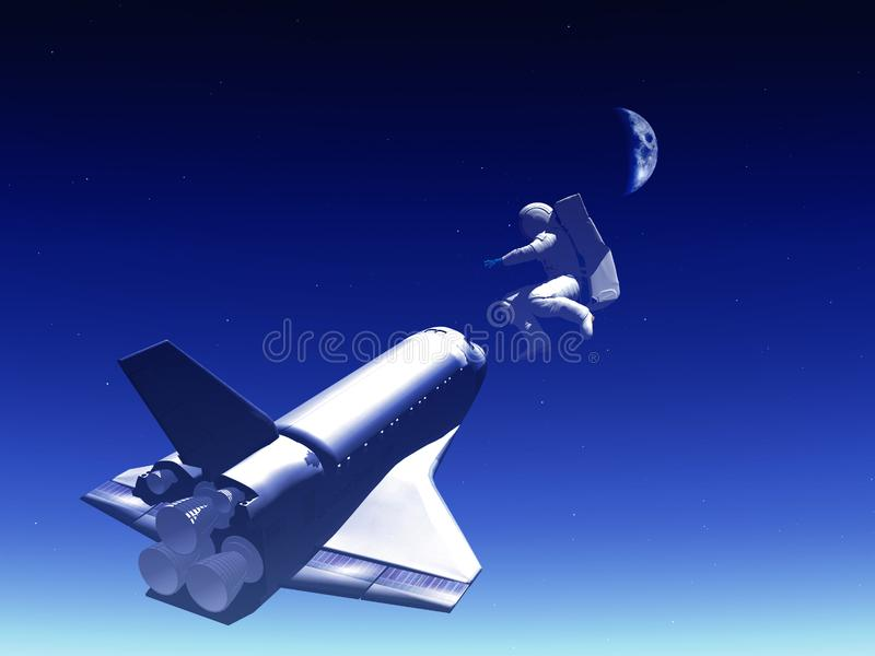 Shuttle In The Sky 94 royalty free stock photo