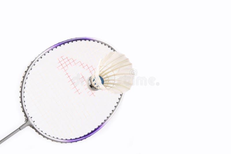 shuttlecock de raquette de badminton images libres de droits