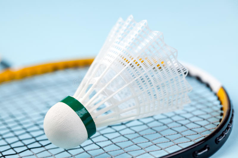 Shuttlecock do Badminton foto de stock royalty free