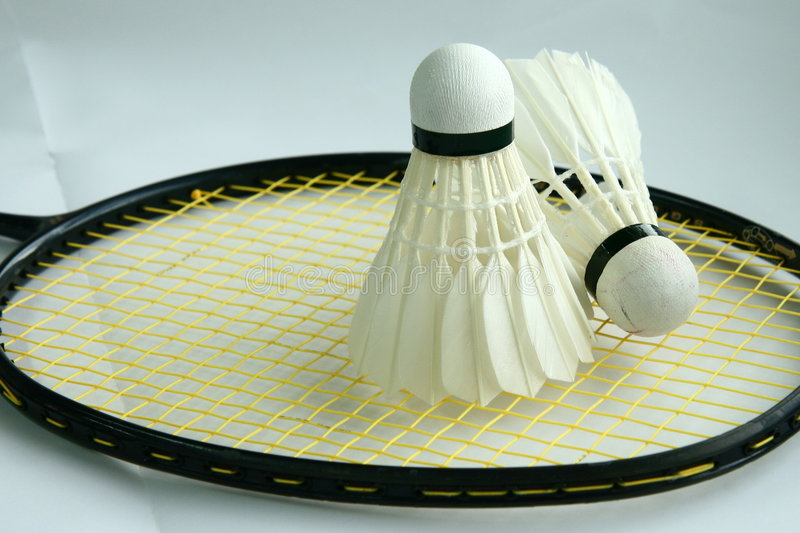 Shuttlecock do Badminton fotografia de stock royalty free