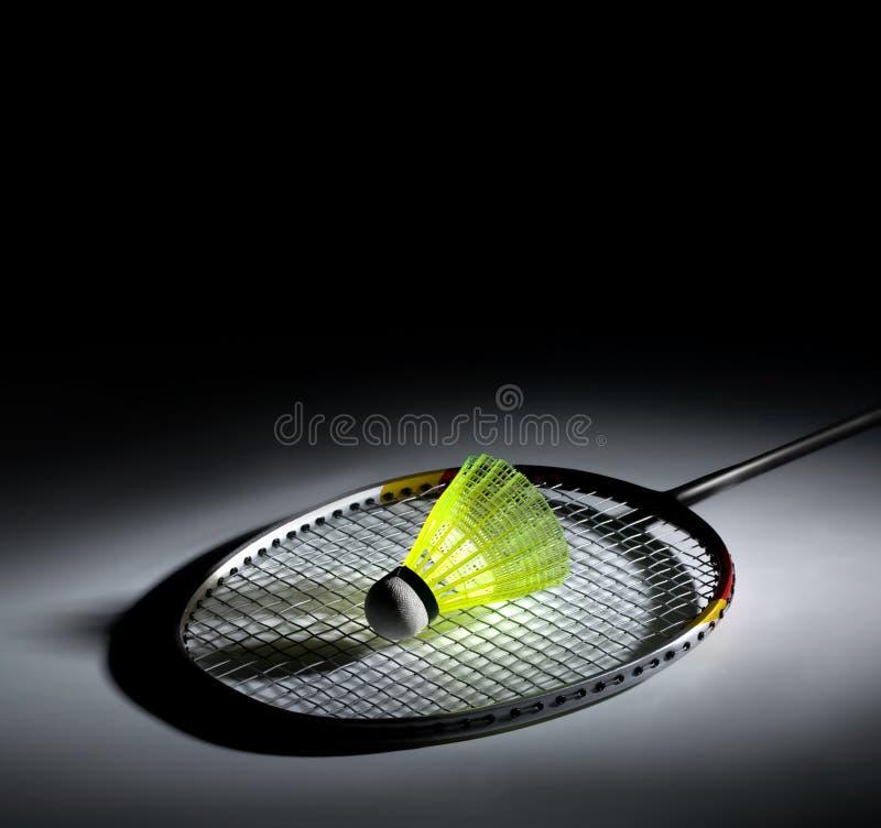 Shuttlecock et badminton image libre de droits