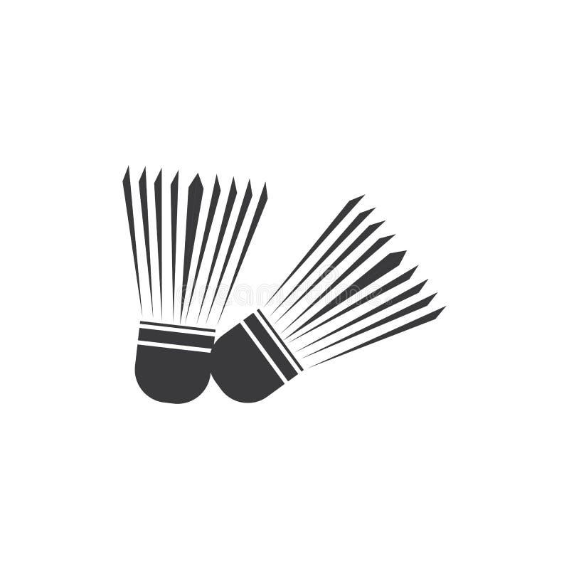 shuttlecock vektor illustrationer