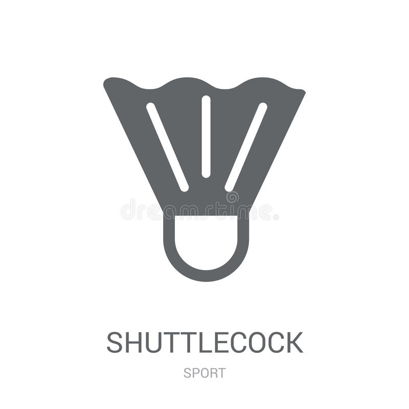 Shuttlecock icon. Trendy Shuttlecock logo concept on white background from Sport collection stock illustration