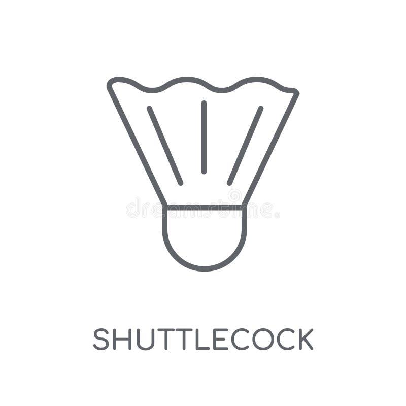 Shuttlecock linear icon. Modern outline Shuttlecock logo concept vector illustration