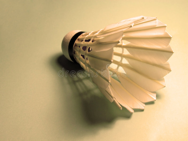 Shuttlecock And Shadow Royalty Free Stock Image