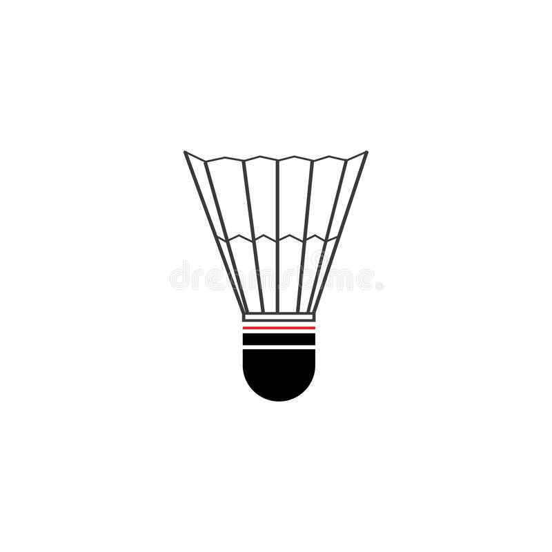 Shuttlecock. Vector illustration.Badminton Logo Icon Template, racquet, leisure, active, match, racket, sport, competition, game, play, hobby, recreation, court royalty free illustration