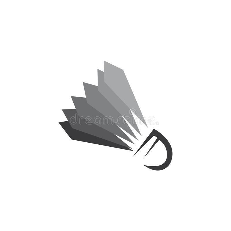 Shuttlecock. Vector illustration.Badminton Logo Icon Template, racquet, leisure, active, match, racket, sport, competition, game, play, hobby, recreation, court stock illustration