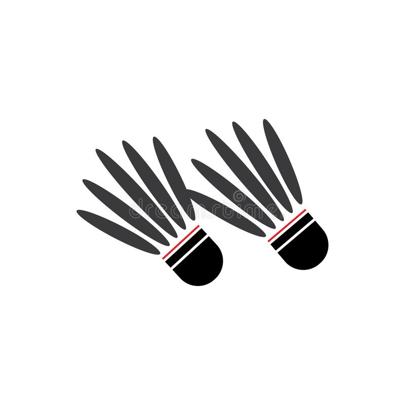 Shuttlecock. Vector illustration.Badminton Logo Icon Template, racquet, leisure, active, match, racket, sport, competition, game, play, hobby, recreation, court vector illustration