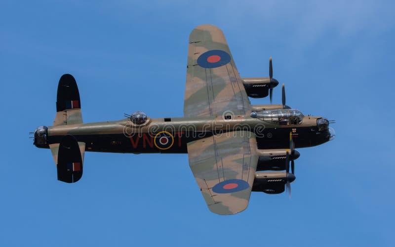 Shuttleworth Bedfordshire le 1er juillet 2018 Avro Lancaster PA474 VNT pris pendant un airshow public image libre de droits