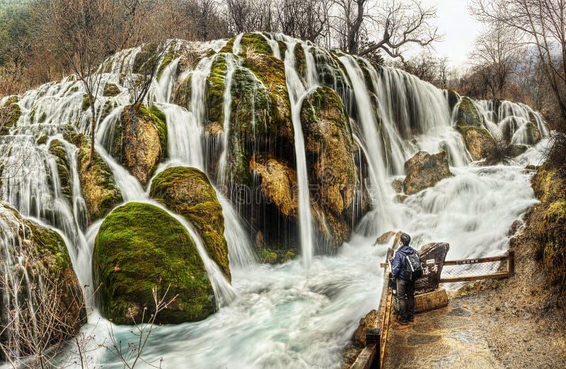 Shuzheng siklawa Jiuzhaigou, Chiny zdjęcia stock