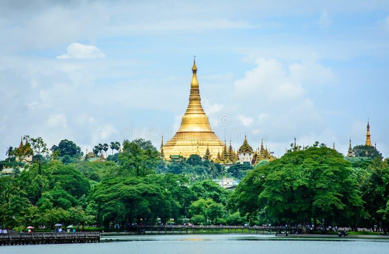 Shwe Dagon pagoda, Yangon, Myanmar obraz stock
