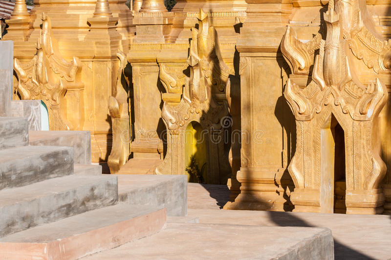 Download Shwe Indein Pagodas stock image. Image of stupas, sightseeing - 29697725