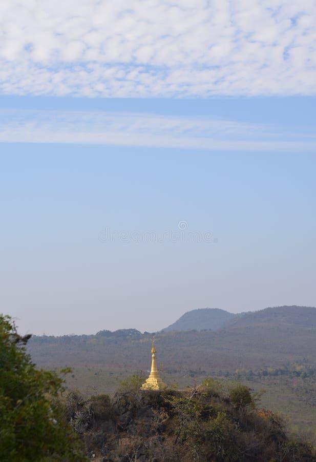 Shwe Indein Pagodowa intarsja obrazy royalty free