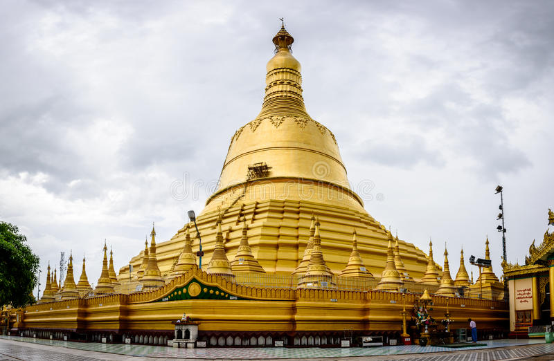 Shwe Maw Daw Pagoda. It is located in Bago city, Myanmar, june-2017 royalty free stock photography
