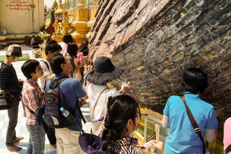 Shwe Maw Daw Pagoda Myanmar or Burma. Shwe Maw Daw Pagoda (Shwemawdaw Pagoda), Myanmar or Burma royalty free stock images