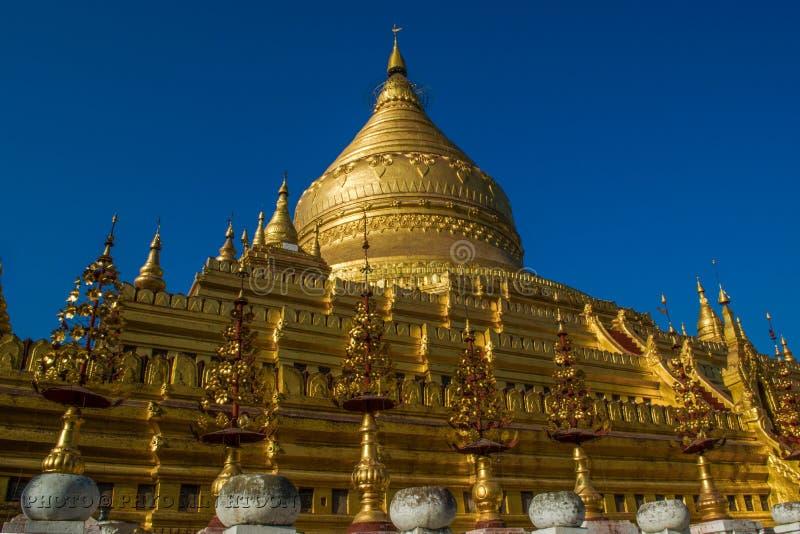 Shwe ve la pagoda de Khone foto de archivo libre de regalías