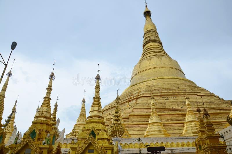 Shwedagon pagod eller stor Dagon pagod i Yangon, Burma arkivfoto