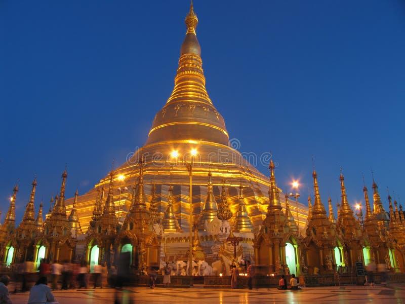 Shwedagon Pagoda. In Yangoon, Maynamar stock photography