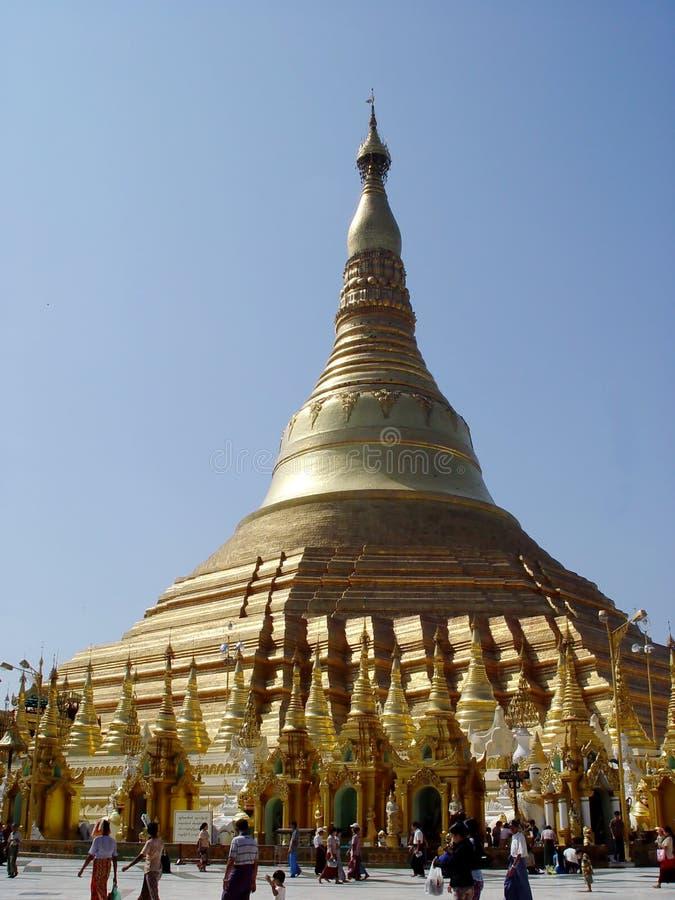 Shwedagon Pagoda. In Yangoon, Myanmar royalty free stock photos