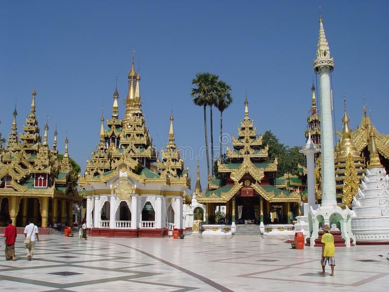 Shwedagon Pagoda. In Yangoon, Myanmar royalty free stock images