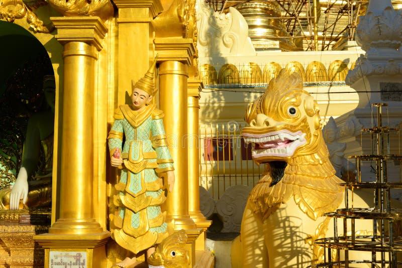 Shwedagon Pagoda in Yangon, Myanmar. Shwedagon Pagoda, the famous glided golden Buddhist stupa in Yangon, Myanmar Burma, in Southeast Asia.  It is an iconic stock image